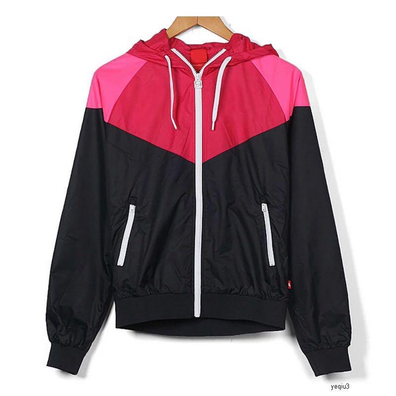 nike NIKE NK homens jaquetas de grife com capuz zipper jaqueta esporte das mulheres Windbreaker Sports Zipper Patchwork Famoso Imprimir Casacos quente