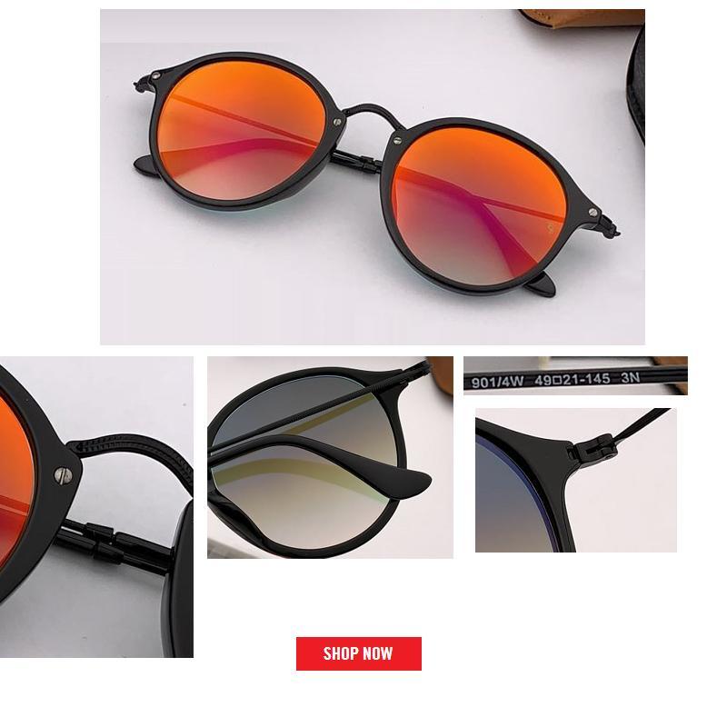 2019 أعلى بيع جولة نظارات المرأة العلامة التجارية مصمم uv400 الرجعية مكبرة القيادة مرآة المرأة سيدة الرجال الإناث مكبرة التدرج gafas 2447