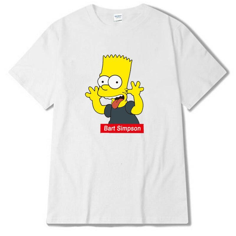 Sommer grundiert Paar Rundhals Kurzarm T-shirtC0L9