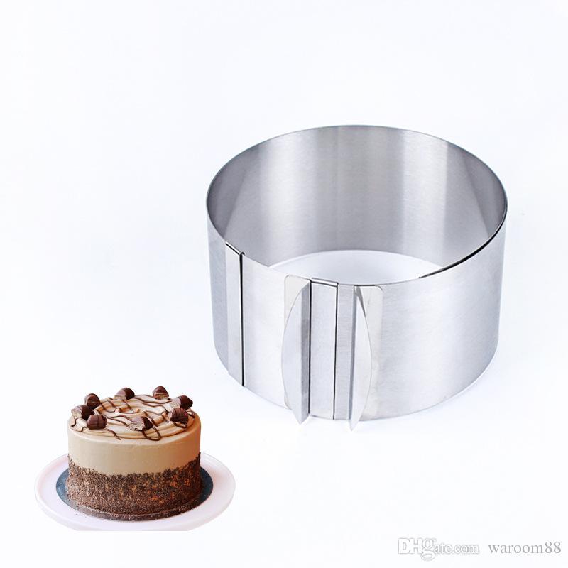 r/églable en acier inoxydable mousse Anneau 6 30,5/cm Moule /à g/âteau cuisson outils de d/écoration de style Ensemble de moule Accessoires de Cuisine