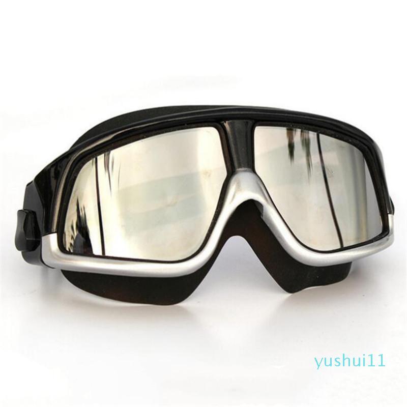Wholesale-2019 mujeres de los hombres Gafas de natación deporte profesional anti niebla Protección UV Diver capa impermeable ajustable vidrios de la nadada