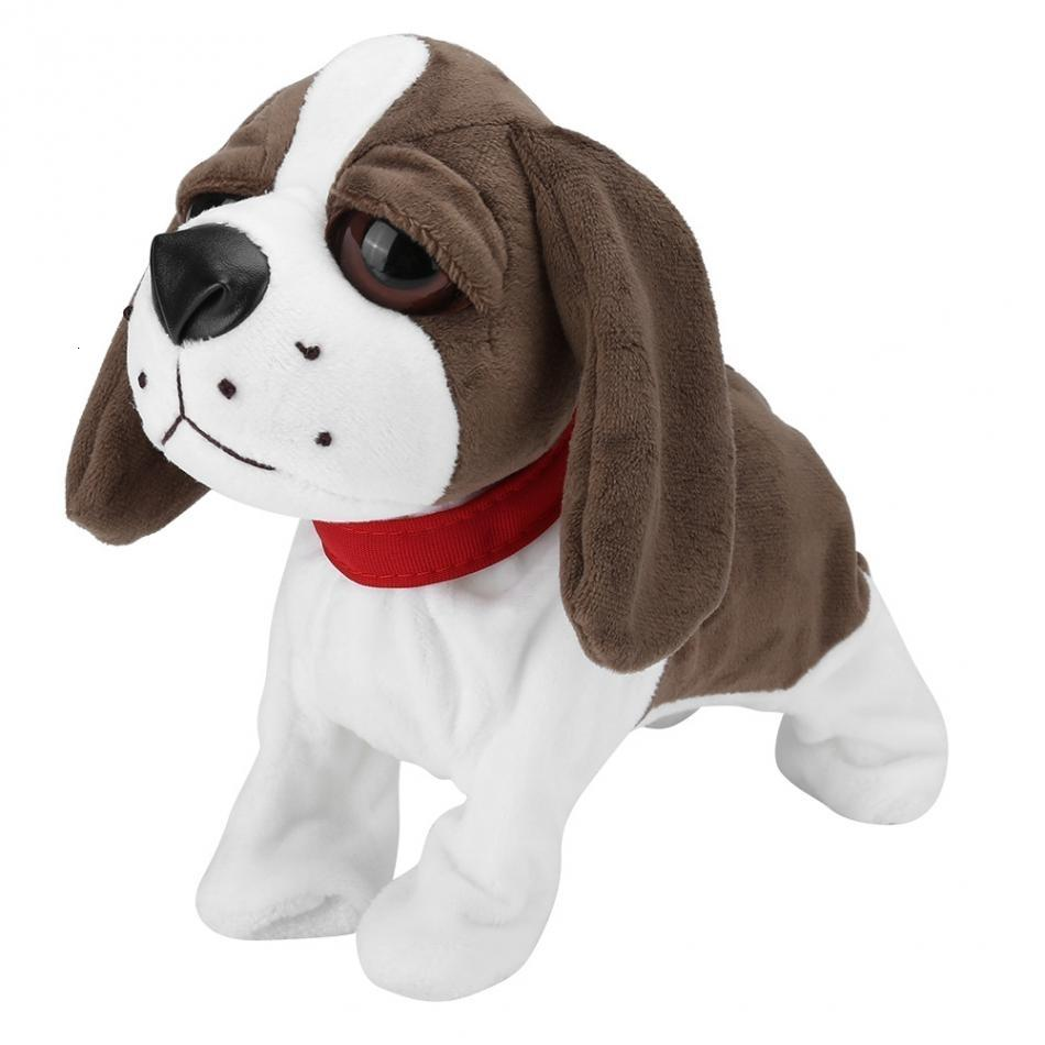 New Electronic Pets Sound Control Robot Dogs Cute Plush Dog Electronic Dog Bark Stand Walk Toys For Kids Children Birthday Gift T191111