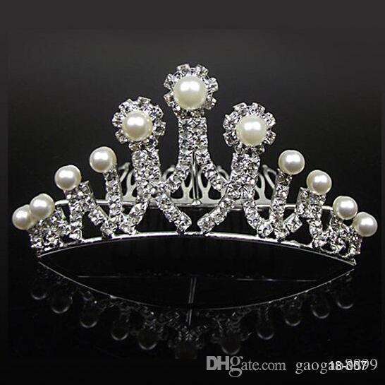 Splendida buon mercato libero di cristallo della festa nuziale del Rhinestone di trasporto di promenade di nozze corone Banda principessa diademi nuziali accessori dei capelli