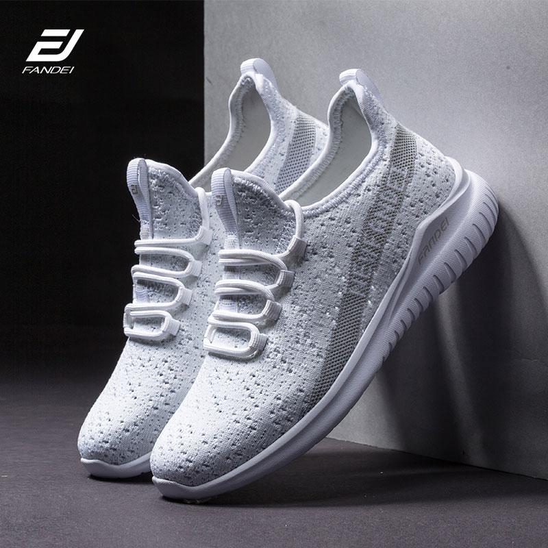 Fandei tênis de corrida das mulheres dos homens brancos sapatilhas mulheres calçados esportivos respirável chaussures femme zapatillas mujer deportiva