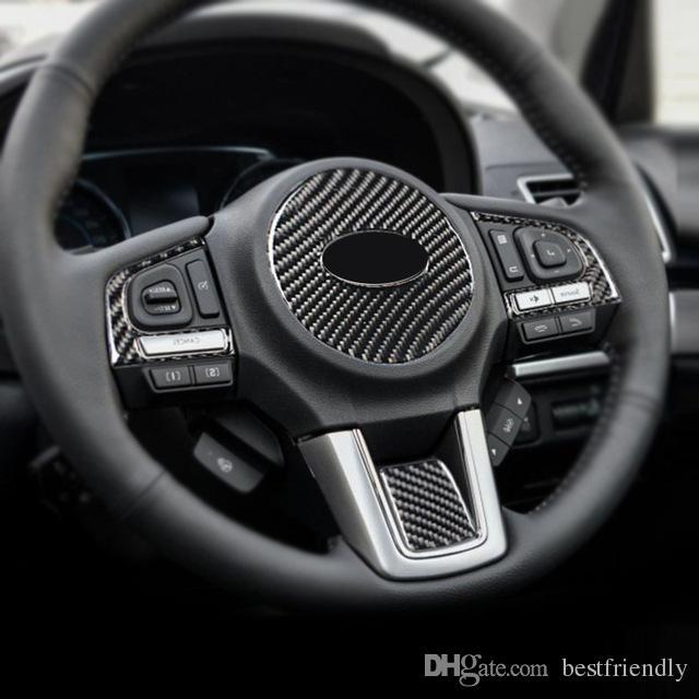 Fashion Design for Subaru Forester Accessories 2016 2017 2018 Carbon Fiber Car Interior Steering Wheel Stickers Covers Trim Decoration