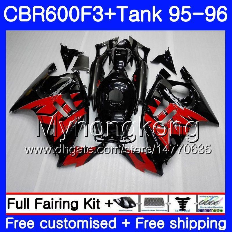 Body +Tank For HONDA CBR600RR CBR 600F3 CBR 600 F3 FS 95 96 289HM.0 CBR600FS CBR600 F3 95 96 CBR600F3 1995 1996 Fairings Factory red black