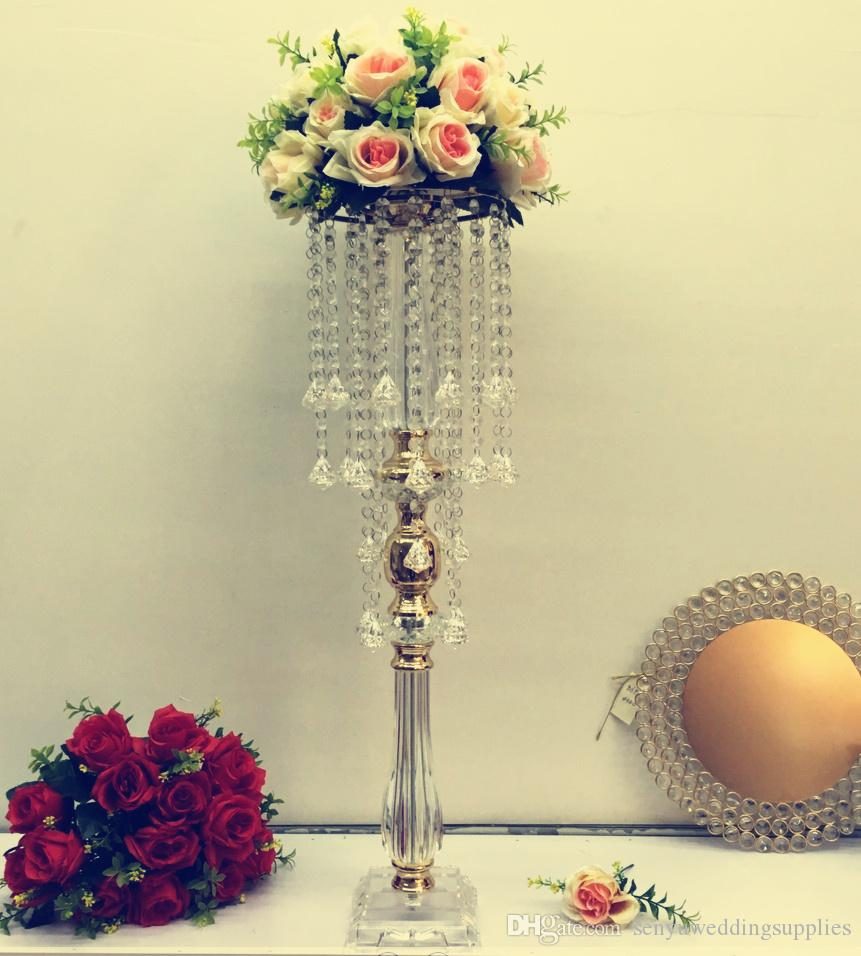 Wedding Centerpieces Acrylic Columns Acrylic Display Floral Stand Wedding Aisle Flower Stands senyu0004