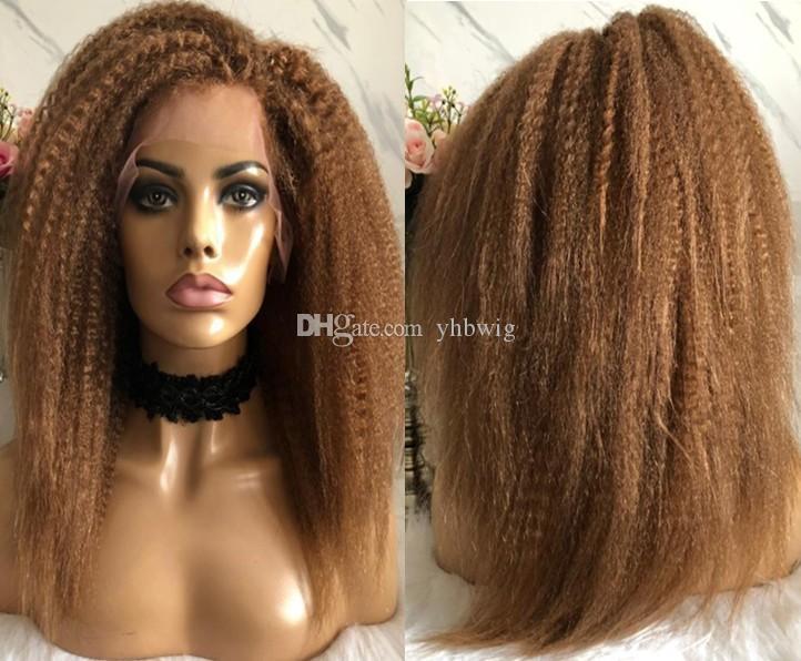 Celebrity WIG Lace Frente Wig Silky Straight Natural Negro Color 10A Malasia Virgin Human Hair Pelucas de encaje completo para las mujeres negras Envío gratis