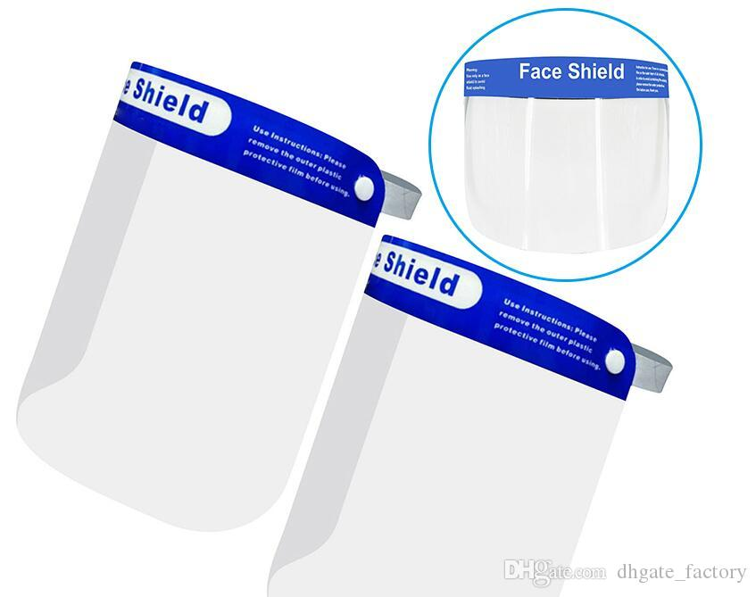 De seguridad para Visor claro transparente ECO PET transparente de plástico reutilizable de protección anti-salpicaduras y protector de cara máscara de la niebla DHL