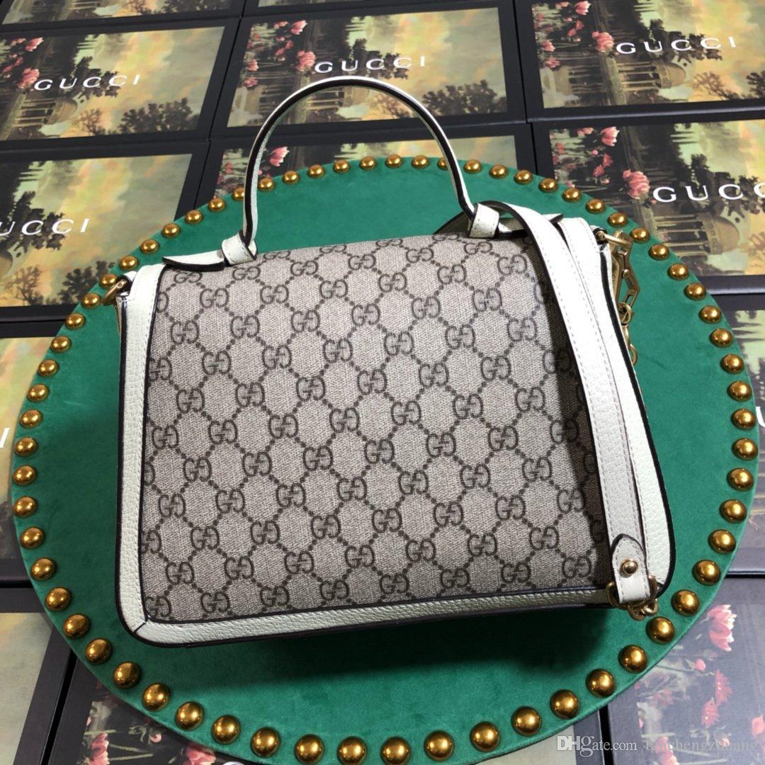 2020Top qualité célèbre dame chaîne dame design en cuir sac à main handa27 * 19 * 10.5cm