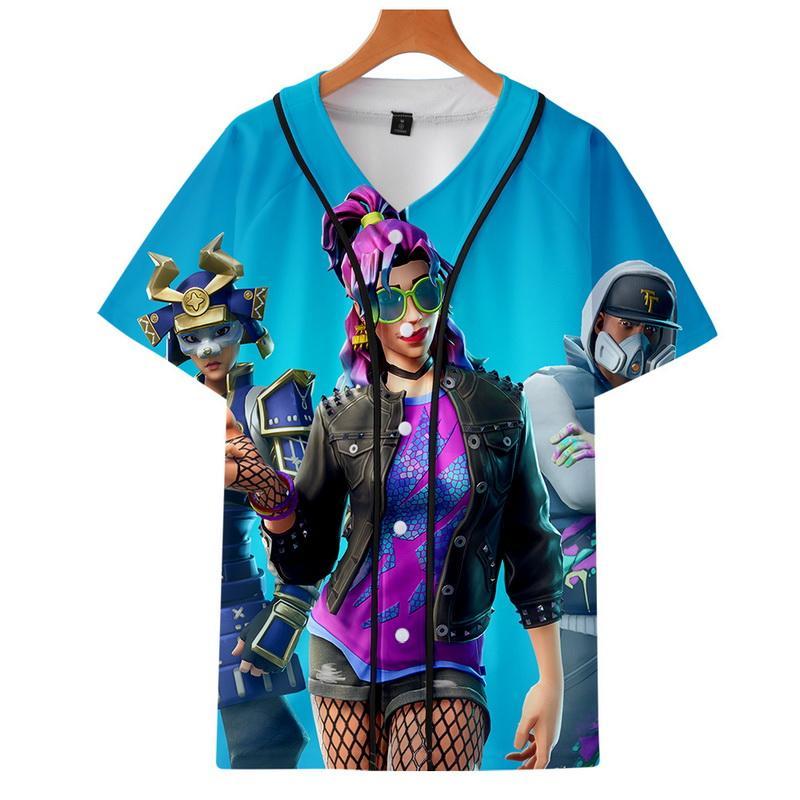 2019 t shirt women 3d digital printing game character summer Baseball uniform Unisex funny t shirts men child tops high quality