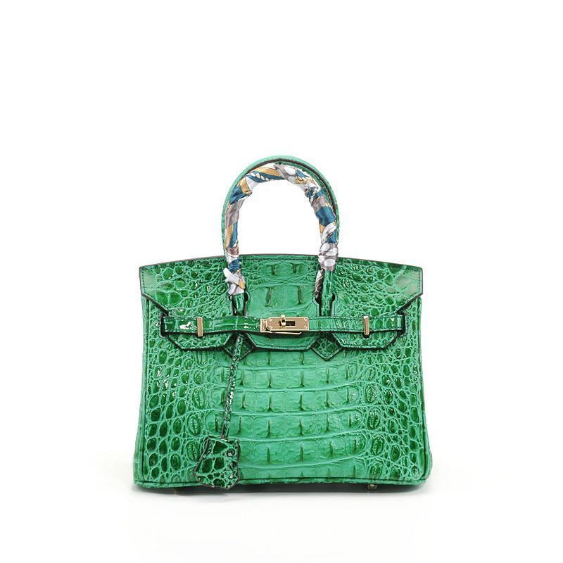Luxurious2019 костяной крокодиловый узор лаконичный натуральная кожа коровья кожа женщина пакет прилив портативный мэм сумка