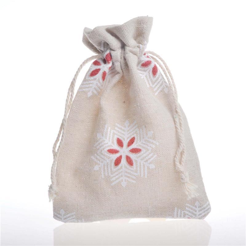 أكياس القطن هدية حقائب الرباط مجوهرات الزفاف عيد الميلاد السنة الجديدة 10x14cm الطرف تفضل التعبئة أكياس كيس عيد الميلاد نمط الحقائب