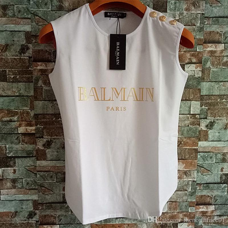 Balmain Womens Stylist T Shirts Balmain Womens Stylist Clothing Top Short Sleeve Women Clothes Size S-L