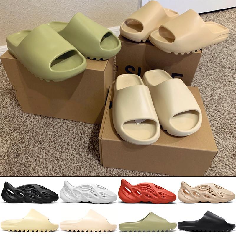2020 neue arrivel desinger Slippers Slide Foma Runner Frauen der Männer Wasser Schuhe Mode Knochen Desert Sand Harz weiß schwarz rot Mode