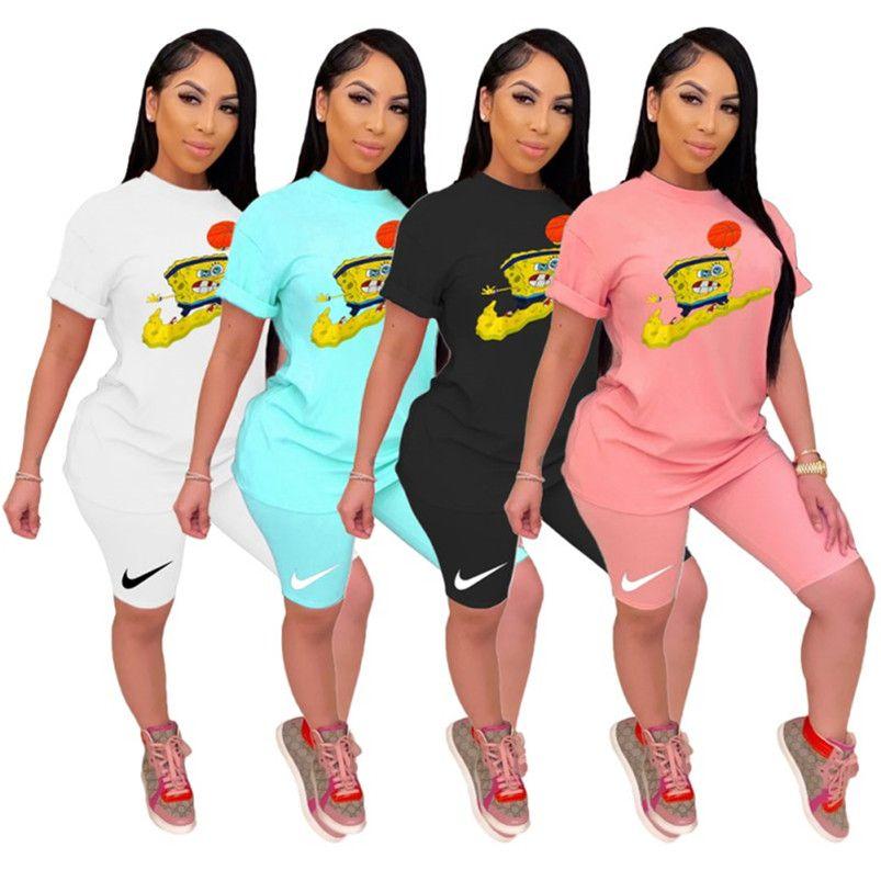 لباس المرأة قصيرة الأكمام ملابس 2 قطعة مجموعة تي شيرت + بانت عارضة الرياضة دعوى جديدة عارضة الساخن بيع إمرأة klw3674 الملابس