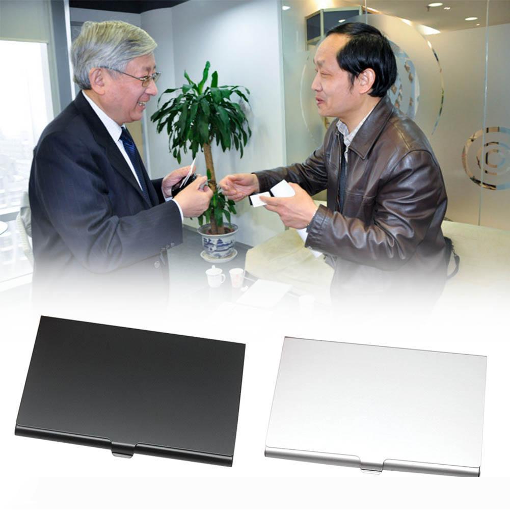 Titolare B affari Nome del titolare della carta in acciaio inox Slim Carta metallo carta di credito Portafoglio