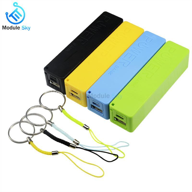 블루 / 그린 / 옐로우 USB 전원 은행 케이스 키트 18650 배터리 충전기 DIY 박스