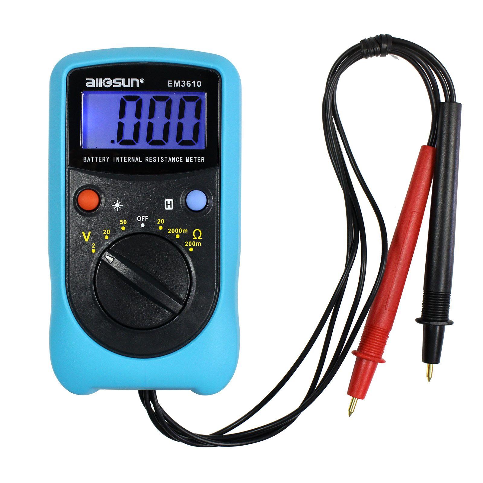 휴대용 배터리 전압 측정기 배터리 내부 저항 시험기 프로 옴 미터 고정밀 배터리 전압 테스터 All-Sun 모델 EM3610