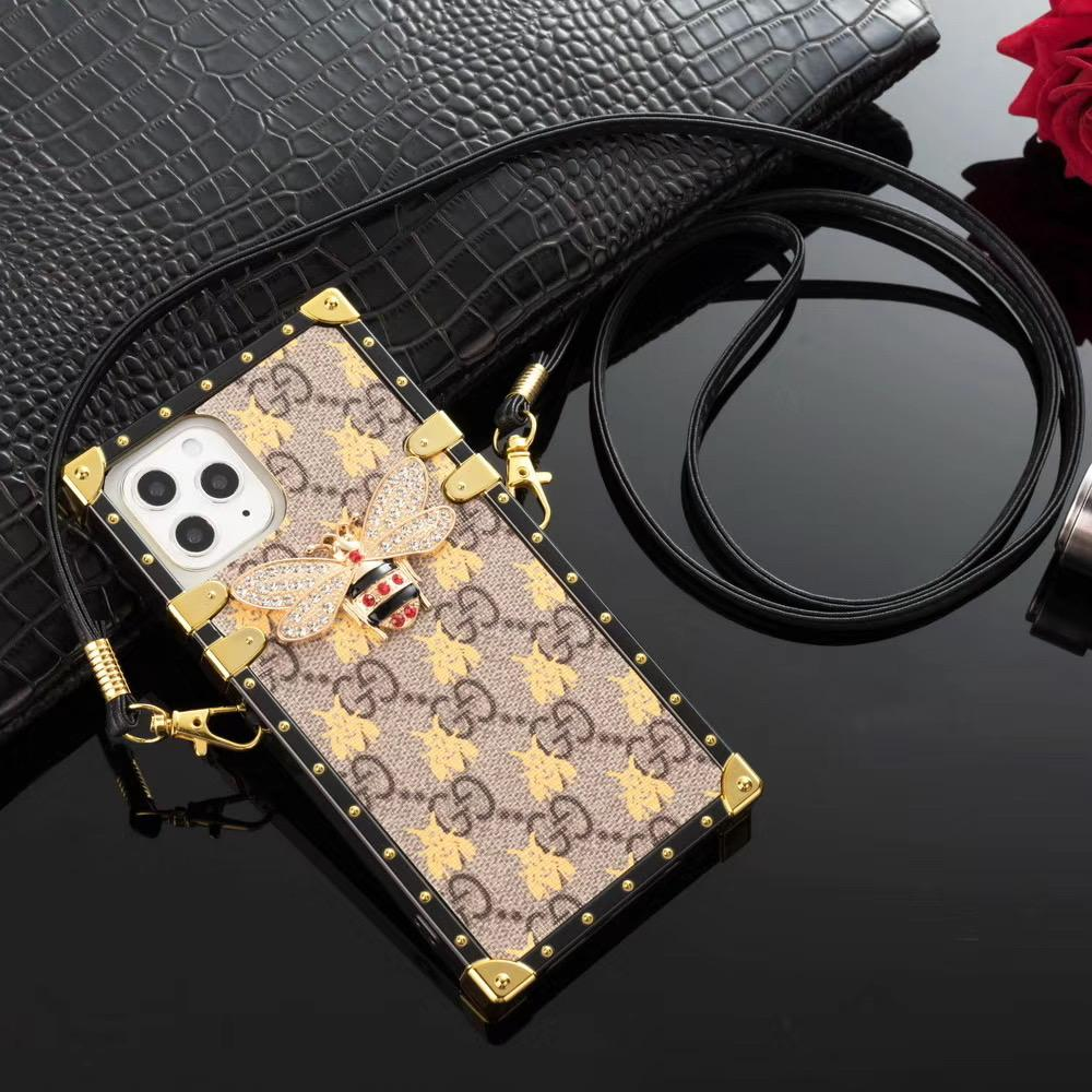 2020 new phone cases for iPhone 11 Pro Max XR XS 7 8 plus PU leather Fashion bee Phone Back for samsung S9 S10 S20 PLUS NOTE 8 9 10 P case