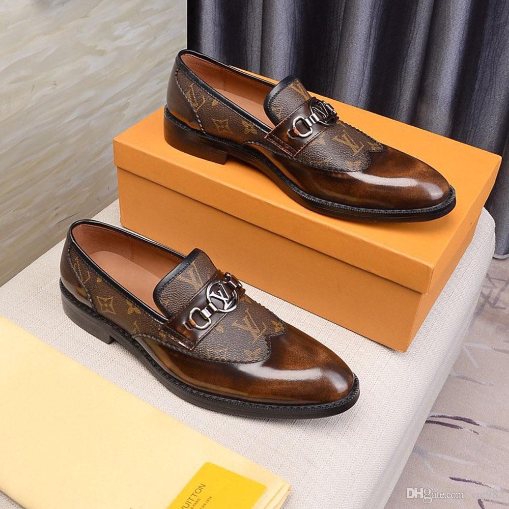 Estilo Europeu Handmade Couro Homens Brown Monk Correia formais Shoes Escritório de Negócios do vestido de casamento preguiçoso Shoes Scarpe da uomo in pelle
