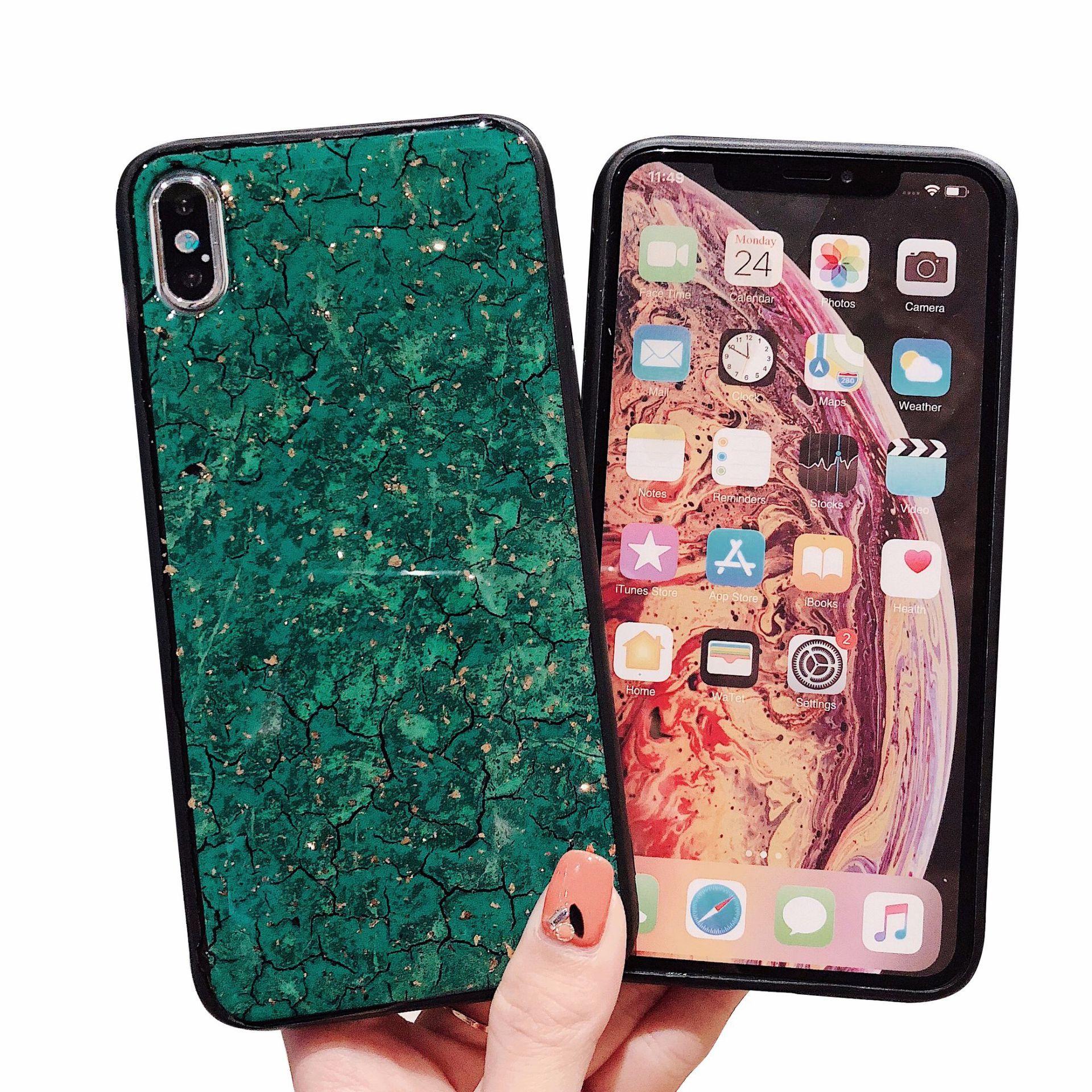 Случаи для телефонов Роскошный блестящий 3D бриллиант браслет для iPhone12 XS 8 PLUS iPhone11Pro Max Case Case Fur Ball Matte Cover Case Hot