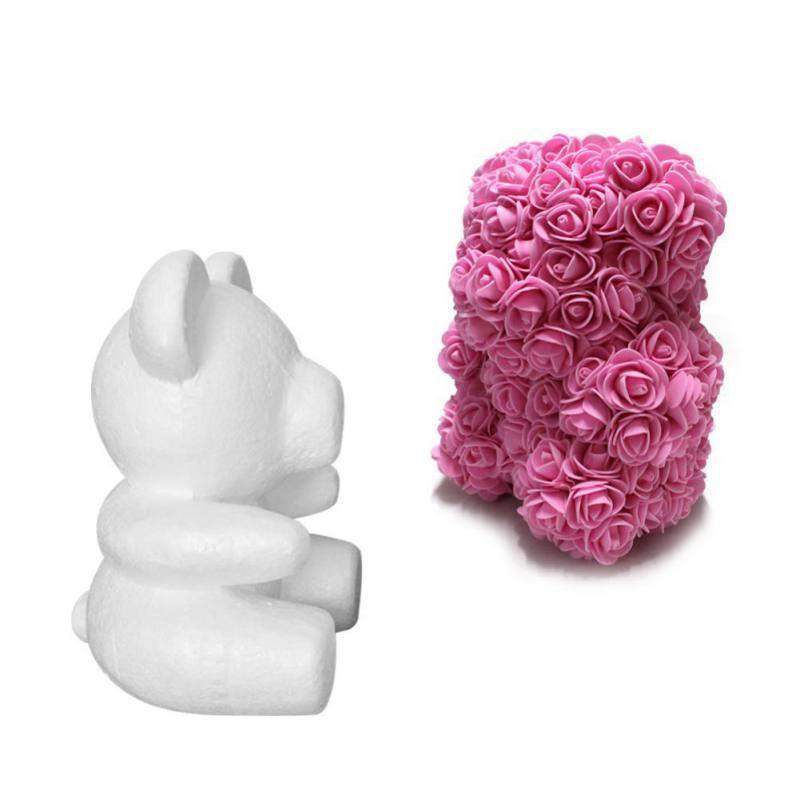 Presentes Teddy Bear Red Flower Rose Natal artificiais para 20 centímetros do presente do dia de pelúcia ursos Mulheres Namorados