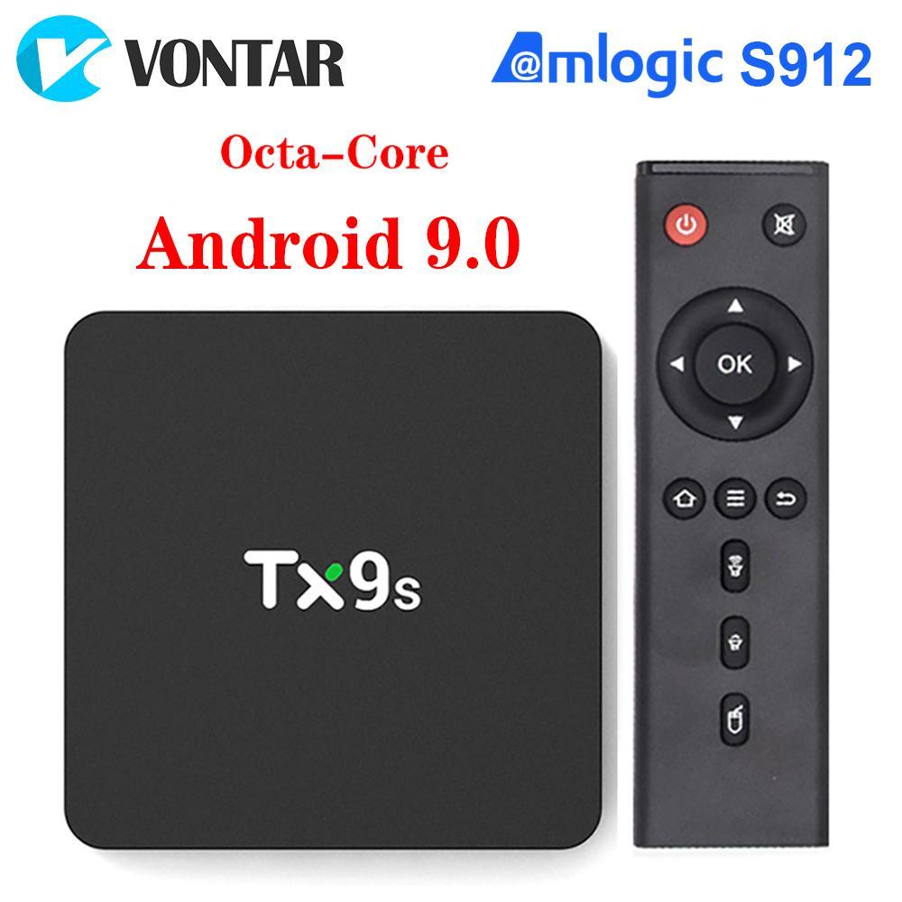 TX9S Android 9.0 Smart TV Box Amlogic S912 Octa Core 2GB 8GB 4K 60fps 2.4G/5G Wifi Smart TV Box