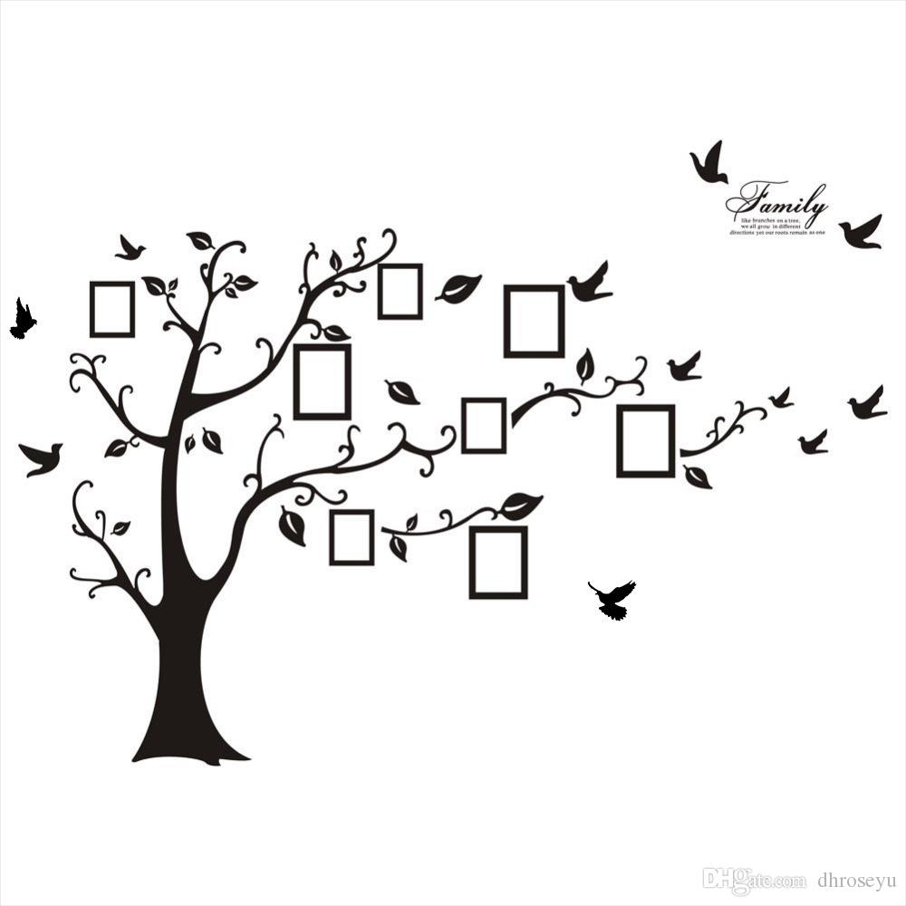 New Oversized Black Memory Tree Photo Tree 3D Wall Sticker PVC Wall Sticker Waterproof Photo Frame Wall Sticker