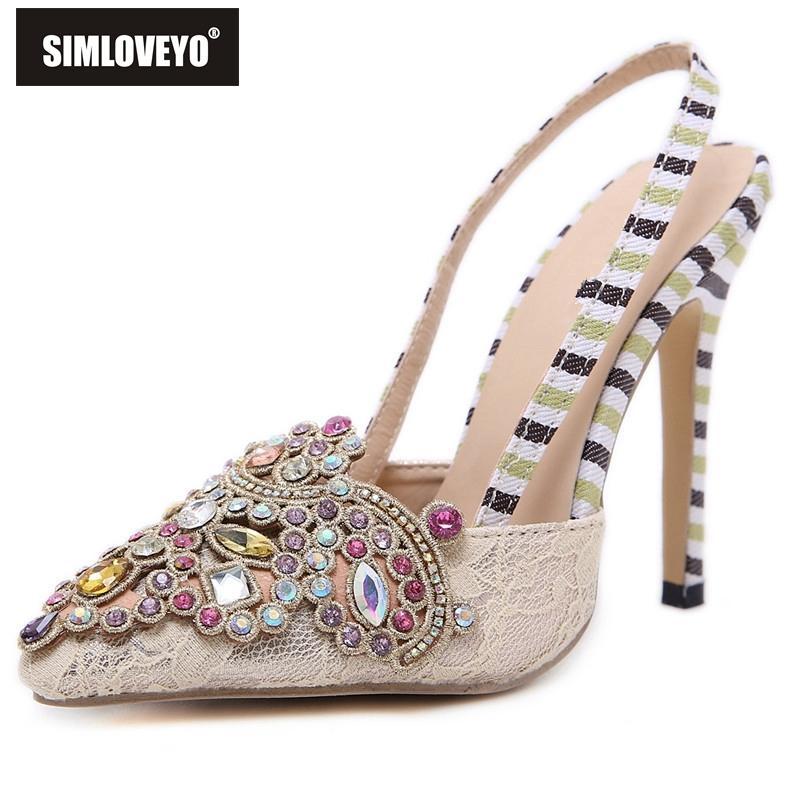 Toptan Ayakkabı kadın Yüksek topuklu sandalet Bayanlar sivri burun ayakkabı Taklidi Glitter Moda Rahat Kadın mujer Parti Çiçek