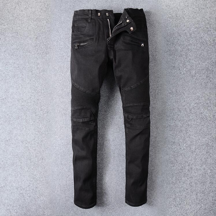 Buracos New Fashion Men Slim Jeans Europeia High Street Motociclista Jeans Mens Hip Hop rasgadas calças Jean Colorido Dropshipping # 24