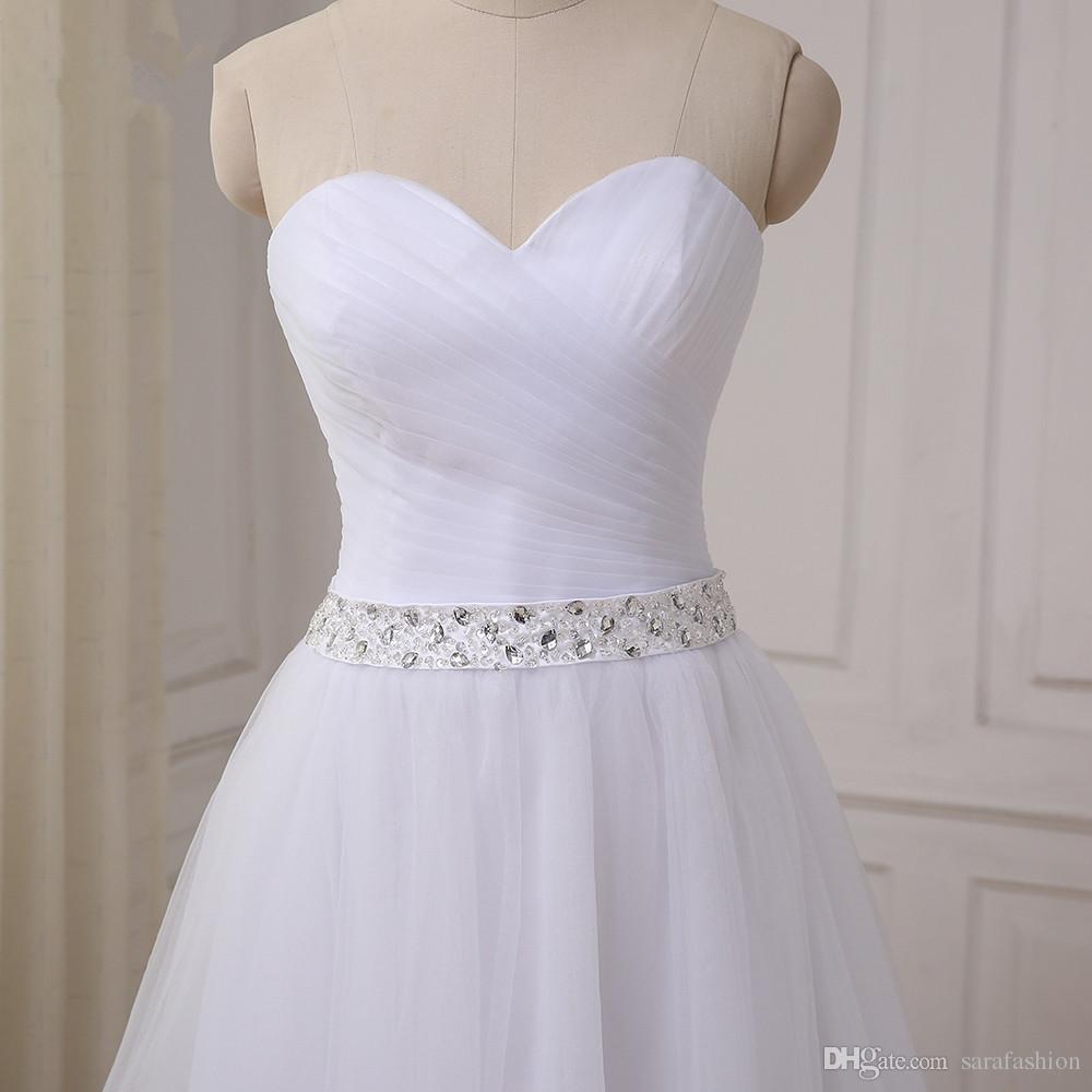 Tule beaded bola vestido vestido 2020 querida adorável vestido curto vestido branco vestidos de festa do joelho branco