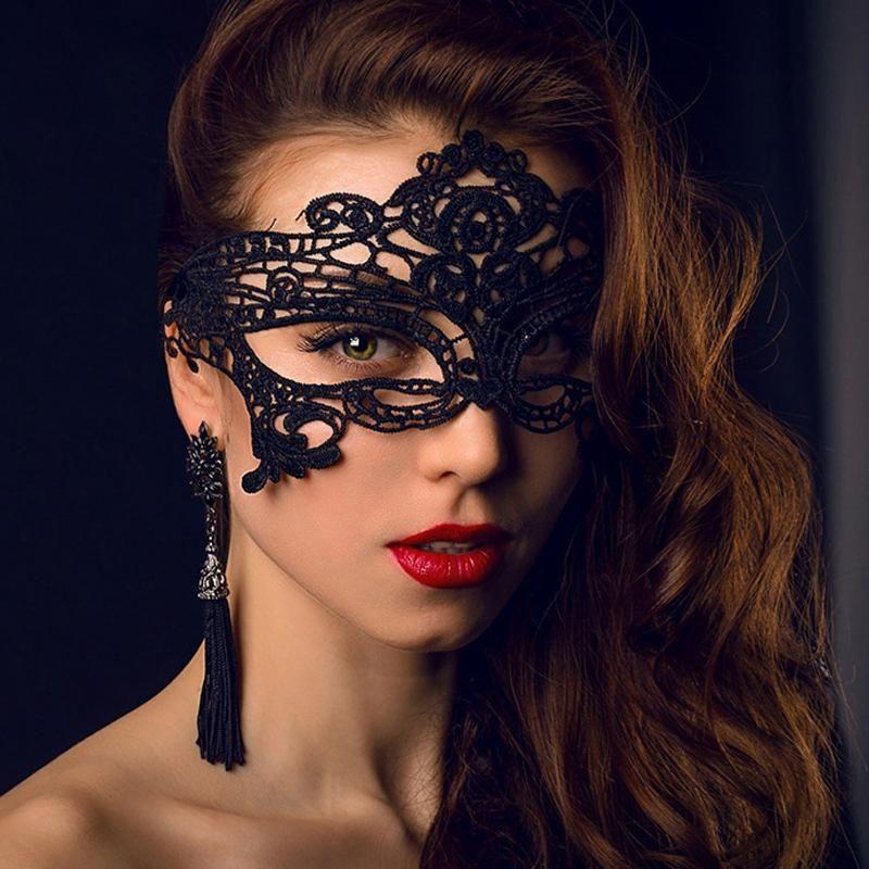 42 Стили моды Sexy Lady Кружева маска Черный Вырез маски для глаз Красочные Маскарад Необычные маски Halloween Венецианский Mardi партии костюма VT1351