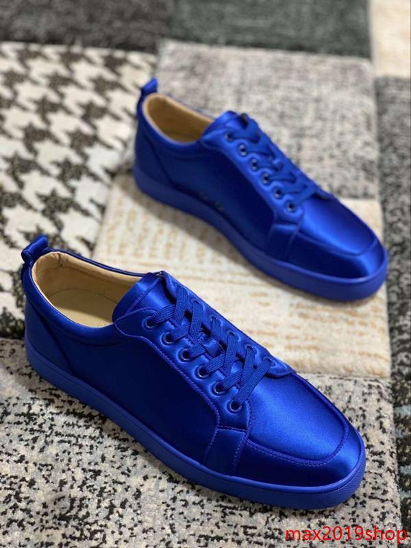 2019 all'ingrosso Green Design Vera Pelle Rossa Toe fondo strass Strass Moda Uomo / Donna s Low Top Sneakers Junior Outdoor