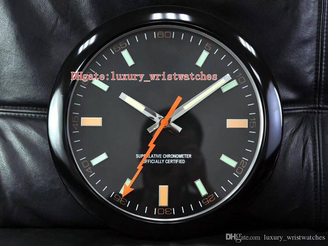 6 colors Fashion family wall clock 116400GV 116400 34CM x 5CM Stainless Steel Quartz Chronograph Luminescent Home Decoration Wall Clocks