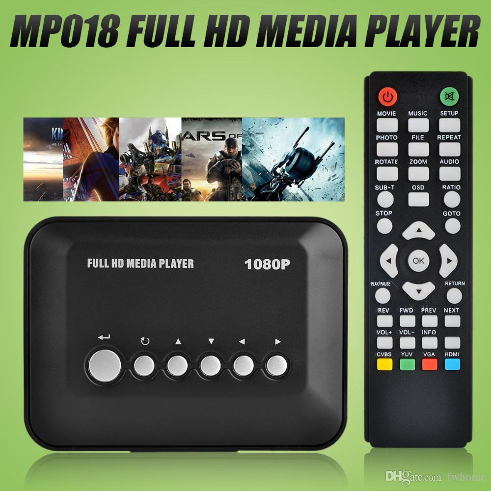 Autoplay Full HD Multimedia Player Support HDMI AV MP3 MP4 MKV HDD Mini Media Player 1080P Advertising Player
