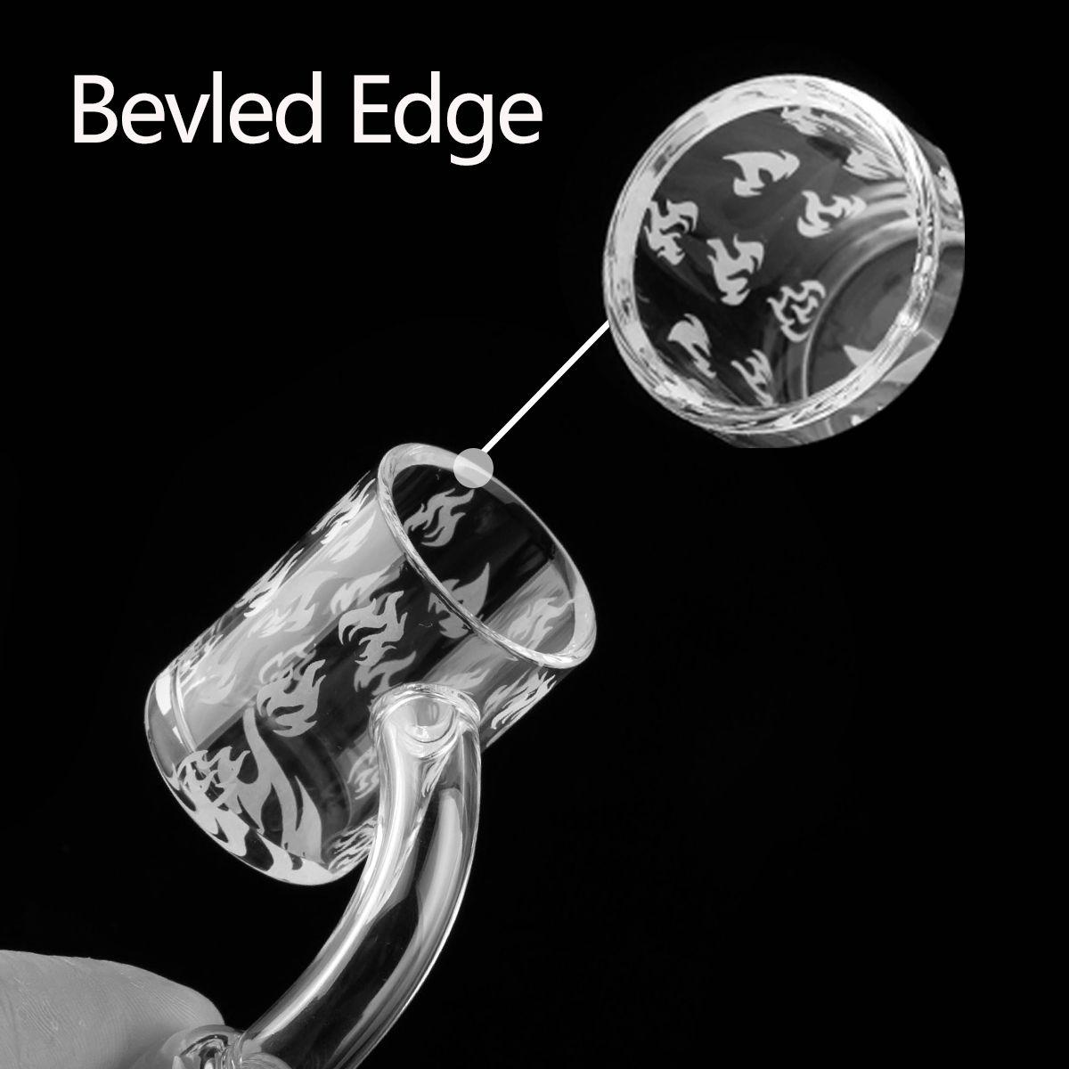 100% Real Quartz Banger Female Male Degrees quartz 10mm 14mm 18mm Domeless Nail 90 Degrees quartz danger Nail dab rig