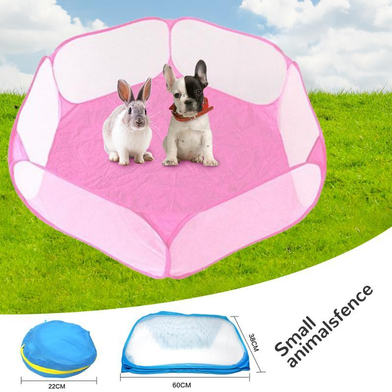 Small Animals Breathable Folding Fence For Hamster Hedgehog Puppy Cat Guinea Pig Portable Pet Cat Dog Cage Tent Playpen