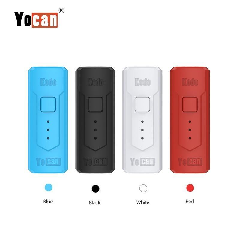 Аутентичные Yocan Кодо Box Mod 400mAh Разогреть VV E Cigarette Vape Mod Переменный Напряжение батареи для 510 Thread картриджи 100% оригинал