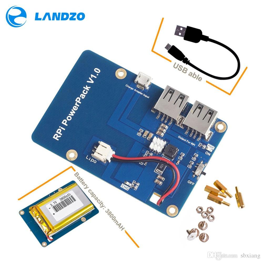 Freeshipping Lithium Battery Pack Expansion Board Power Supply with Switch for Raspberry Pi 3,2 Model B,1 Model B+ Banana Pi