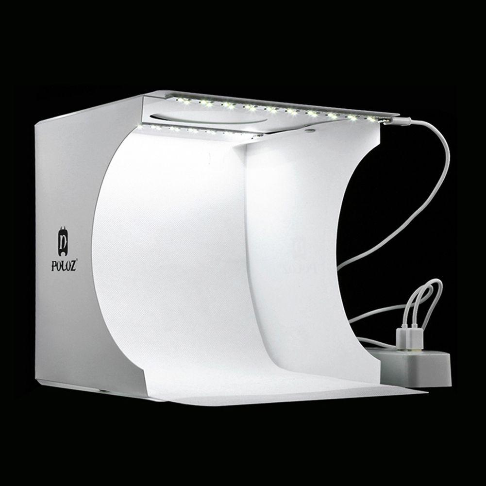 مصغرة الطي مفضلتي التصوير الفوتوغرافي softbox 2 لوحة الصمام الخفيفة لينة مربع صورة خلفية عدة ضوء مربع ل dslr كاميرا T190706