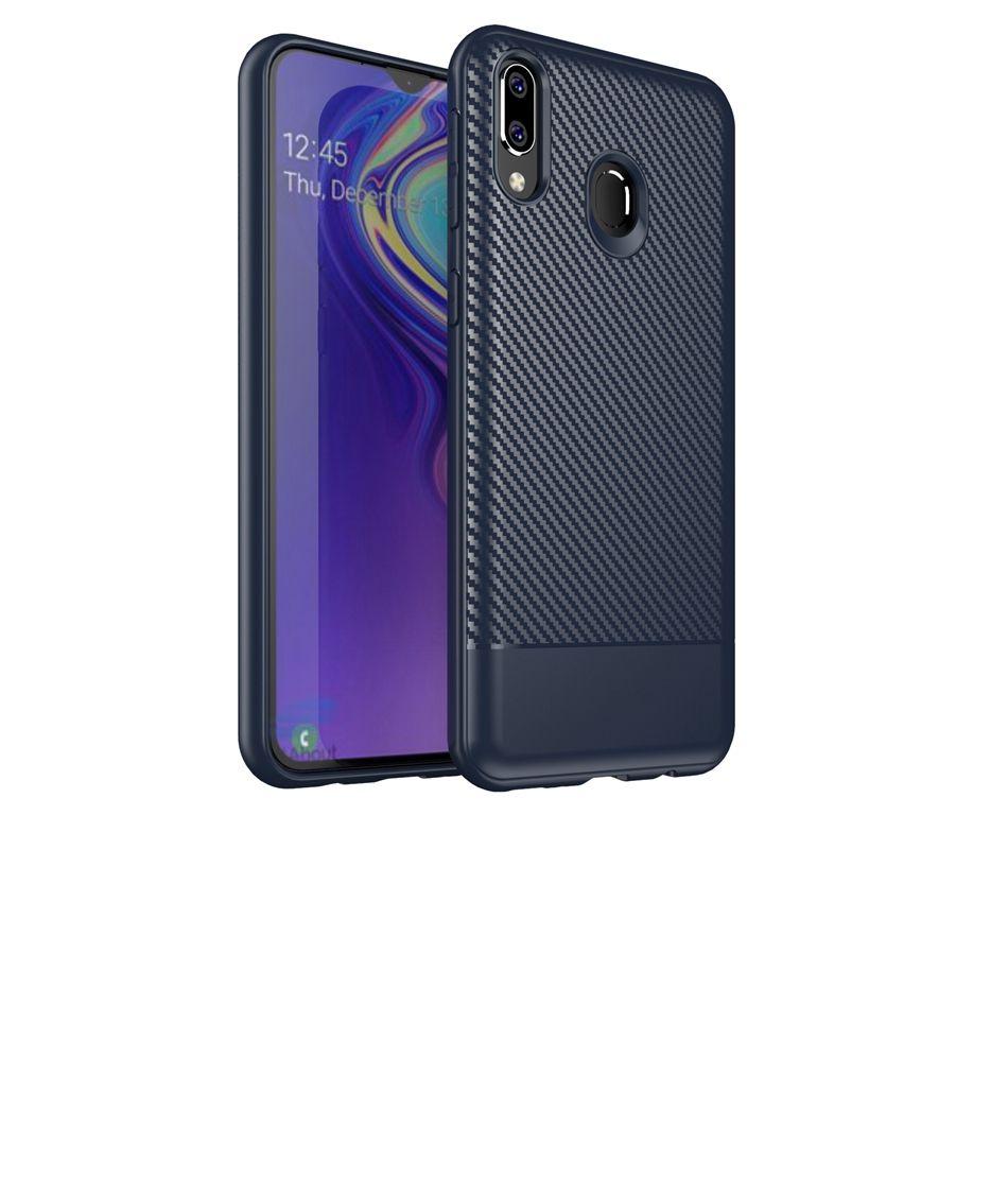 Per Samsung M20 S10 Inoltre Note8 S9 S8 più la cassa in fibra di carbonio del mestiere TPU anti casi di slittamento della copertura del telefono