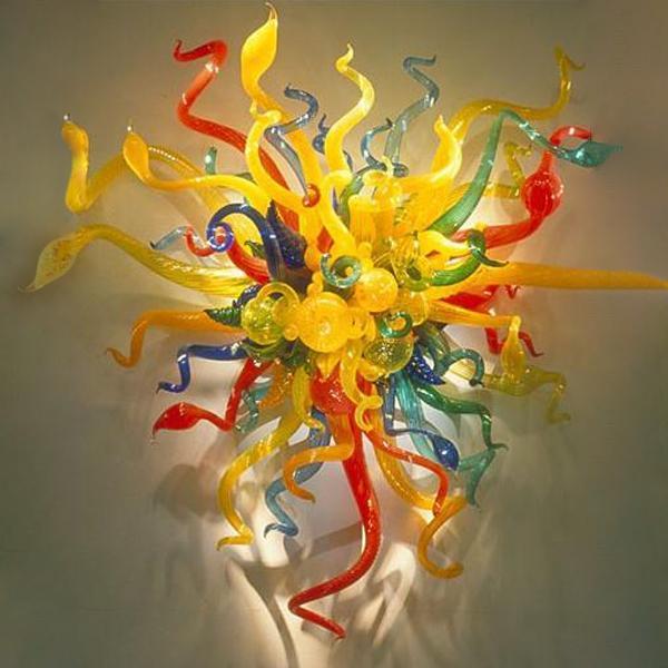 Çiçek Duvar Aydınlatma El yapımı Odası Duvar Dekoru Işıklar Ücretsiz Kargo Yemek Cam Duvar Lambaları Avrupa Tarzı Özelleştirilmiş Murano Glass Üflemeli