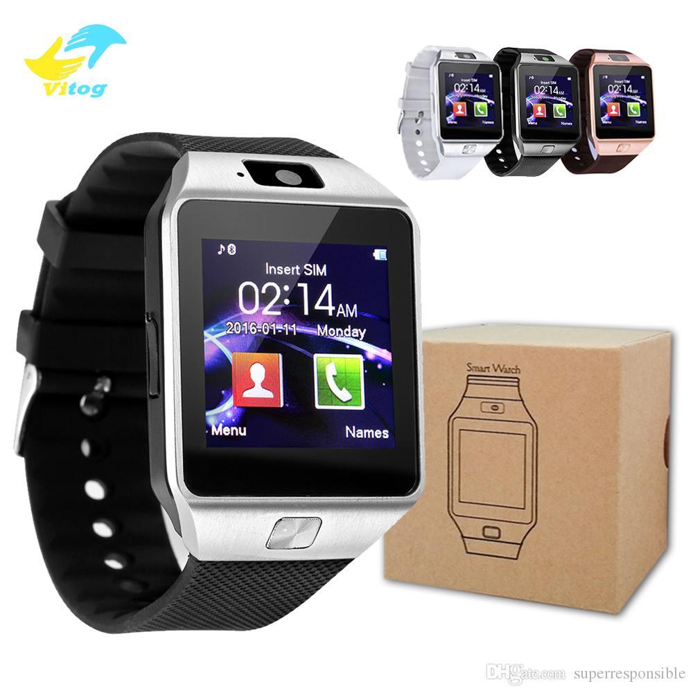 Vitog High quality battery DZ09 Smart Watch Wristband Android Watch Smart SIM Intelligent Mobile Phone Sleep State Smartwatch