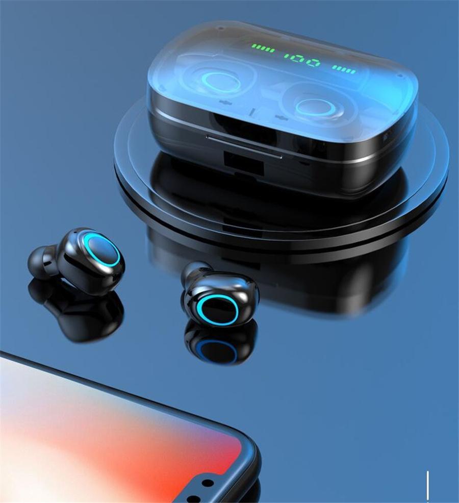 Bluetooth 5.0 tws Led Ekran Otomatik Çifti Kulaklık Stereo Su geçirmez Gürültü Azaltma Kablosuz Blutooth Kulaklık Tr A6S # OU365