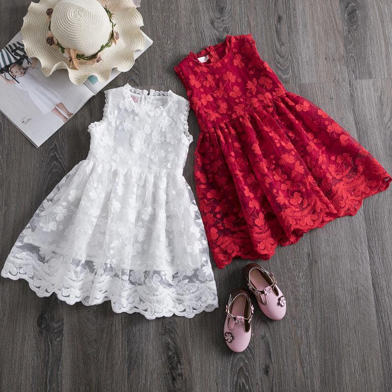 Kız Giydirme Yeni Yaz Marka Kız Giyim Dantel Ve Çiçek Tasarım Bebek Kız Çocuk Elbise Günlük Giyim için 3 8 Y