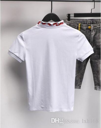 Kısa kollu yakalı ve manevi kendini yetiştirme, yarı kollu gömlek, çabuk el kırmızı net kırmızı polo gömlek ile erkek T-shirt