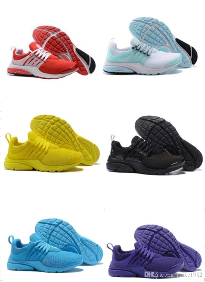 2020 Yeni Presto Koşu Ayakkabıları Erkekler BR QS Üçlü Sarı Pembe Prestos Siyah Beyaz Oreo Açık Jogging Bayan Eğitmenler Sneakers Boyutu 5.5-12