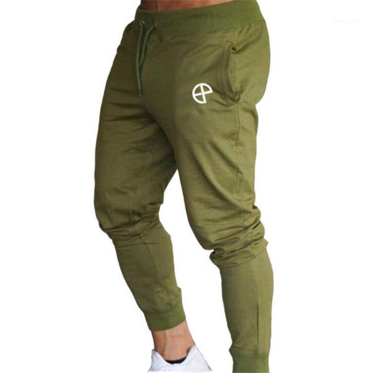 Colore maschio matita Pantaloni Jogger Mens Ginnastica lungo tratto Pantaloni uomo solido