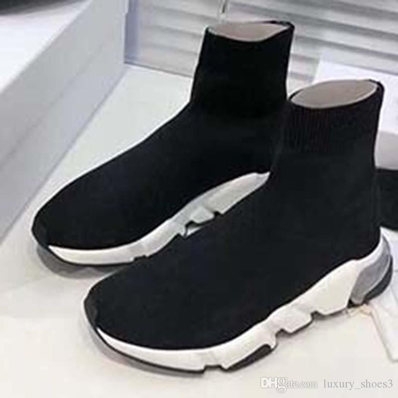 2020 кроссовки Speed Trainer Runner черный красный тройной черный мода плоские носки сапоги Повседневная обувь SN2